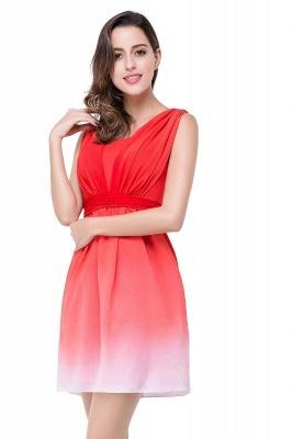 Schlichtes Abendkleid Rot | Cocktailkleider Kurz_1