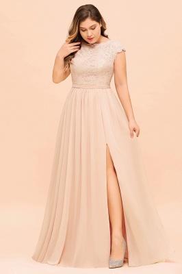 Champagne Brautjungfernkleider Große Größe   Chiffon Kleider Günstig_5