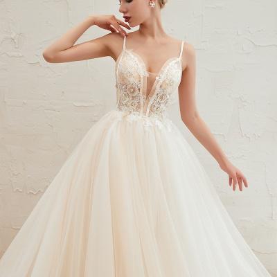 Elegante Hochzeitskleid A Linie   Standesamt Brautkleid_22