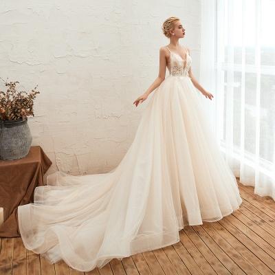 Elegante Hochzeitskleid A Linie   Standesamt Brautkleid_9