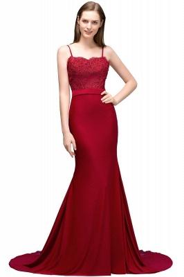 Rote Abendkleider Lang | Abiballkleider mit Spitze_1