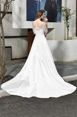 Elegante Brautkleid A linie | Hochzeitskleider Standesamt_4