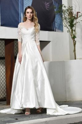 Elegante Brautkleid A linie | Hochzeitskleider Standesamt_8
