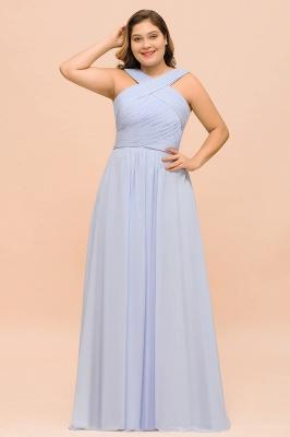 Abendkleider Große Größen | Brautjungfernkleider Lang Lilac_1