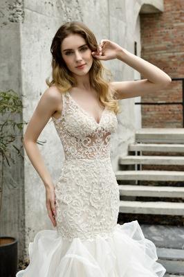 Kleid Standesamt   Brautkleid Meerjungfrau mit Spitze_12