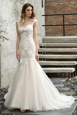 Elegante Hochzeitskleider Standesamt | Brautkleid Meerjungfrau_2
