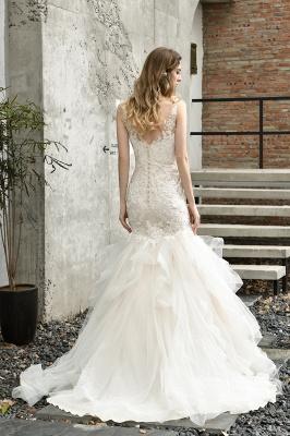 Brautkleider Meerjungfreu   Hochzeitskleid mit Spitze_8