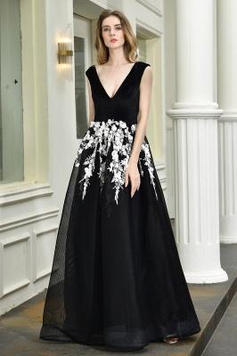 Designer Abendkleider Lang V Ausschnitt | Abendkleid Schwarz_8