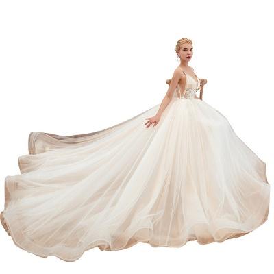 Elegante Hochzeitskleid A Linie   Standesamt Brautkleid_21