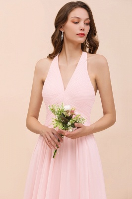 Elegante Bruatjungfernkleider Rosa | Chiffon Kleider Lang_8