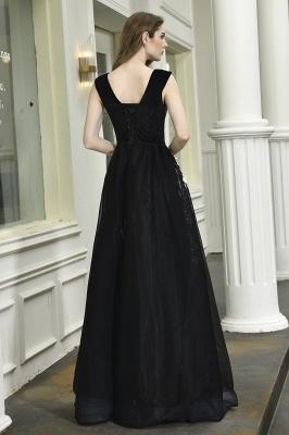 Designer Abendkleider Lang V Ausschnitt | Abendkleid Schwarz_13