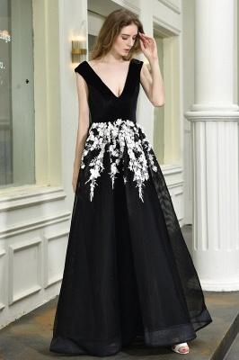 Designer Abendkleider Lang V Ausschnitt | Abendkleid Schwarz_5