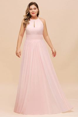 Rosa Brautjungfernkleider Große Größe | Chiffon Kleider Partykleider_4