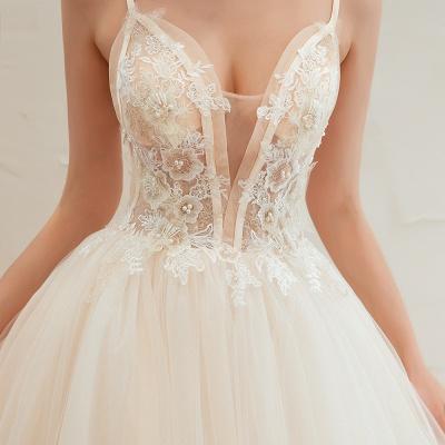 Elegante Hochzeitskleid A Linie   Standesamt Brautkleid_19