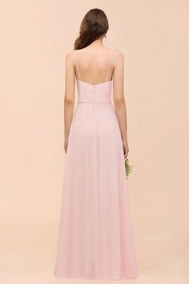 Schickt Brautjungfernkleider Rosa | Chiffon Kleider Lang Günstig_3