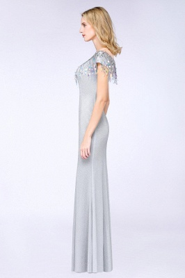 Silber Abendkleider Lang Günstig | Abiballkleider Online Kaufen_5