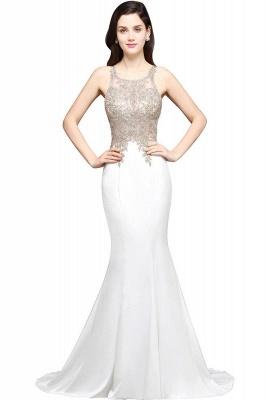 Abendkleider Lang Weiß | Abiballkleider mit Glitzer_1