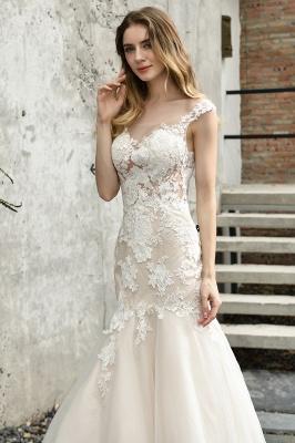 Elegante Hochzeitskleider Standesamt | Brautkleid Meerjungfrau_3