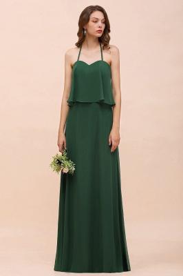 Brautjungfernkleider Lang Grün | Hochzeitspartykleider Chiffon Günstig_4