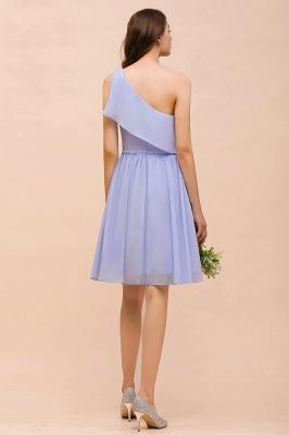Lavender Brautjungfernkleider Kurz | Chiffon Kleider Günstig_3