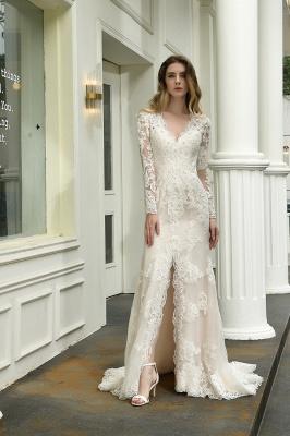 Elegante Brautkleid Meerjungfrau | Hochzeitskleider Mit Ärmel_6