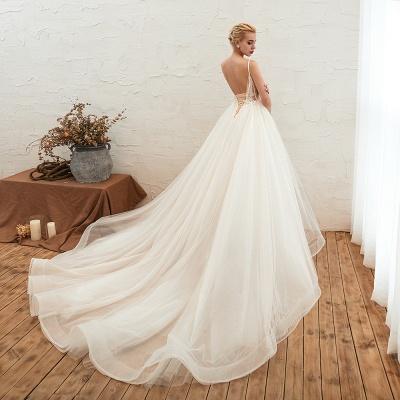 Elegante Hochzeitskleid A Linie   Standesamt Brautkleid_10
