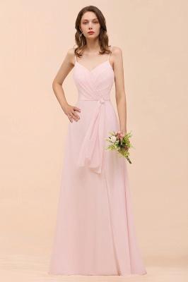 Schickt Brautjungfernkleider Rosa | Chiffon Kleider Lang Günstig_1