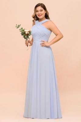 Abendkleider Große Größen | Brautjungfernkleider Lang Lilac_4