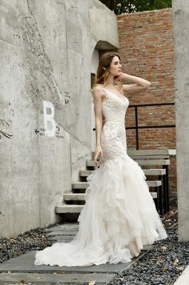 Hochzeitskleid Meerjungfrau Spitze   Brautkleider Günstig Online_9