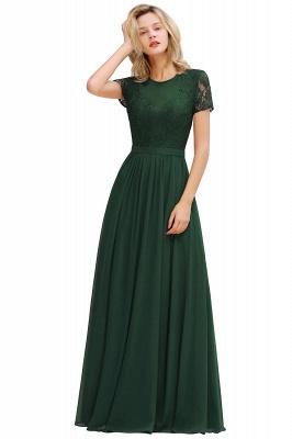 Elegante Abendkleider Lang Weinrot | Abiballkleider Ballkleider mit Ärmel_4