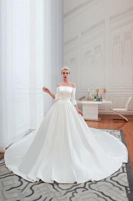 Brautkleider A Linie | Schlichte Hhochzeitskleid Standesamt_8