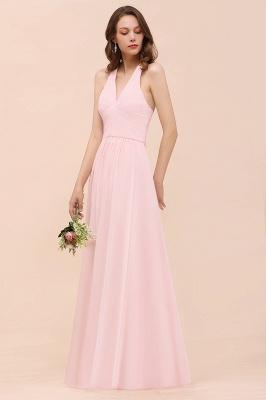 Elegante Bruatjungfernkleider Rosa | Chiffon Kleider Lang_7