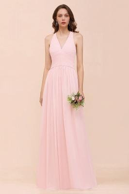 Elegante Bruatjungfernkleider Rosa | Chiffon Kleider Lang_1
