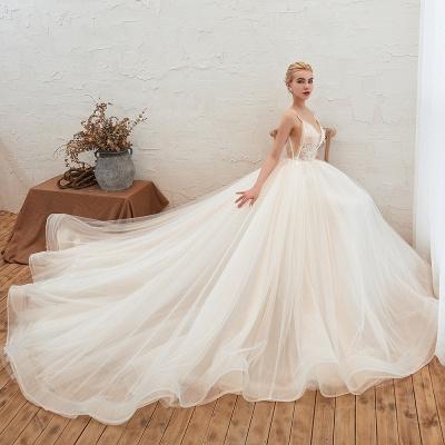 Elegante Hochzeitskleid A Linie   Standesamt Brautkleid_5