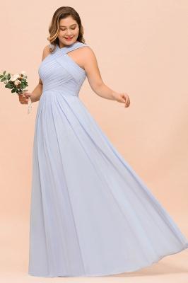 Abendkleider Große Größen | Brautjungfernkleider Lang Lilac_7