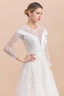 Luxus Brautkleider mit Ärmel   Hochzeitskleid A Linie_7