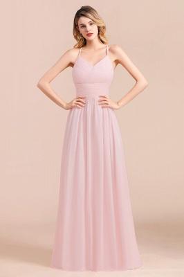 Brautjungfernkleider Lang Rosa | Schlichtes Abendkleid_8