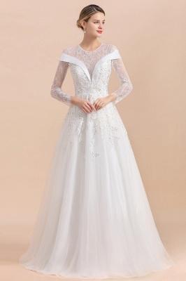 Luxus Brautkleider mit Ärmel   Hochzeitskleid A Linie_4