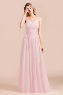 Brautjungfernkleider Lang Rosa | Schlichtes Abendkleid_7