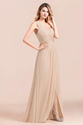 Elegante Chiffon Kleider | Champagne Brautjunfgernkleider Lang Günstig_5
