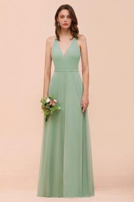 Brautjungfernkleider Mint Günstig | Schlichtes Abendkleid Lang_1