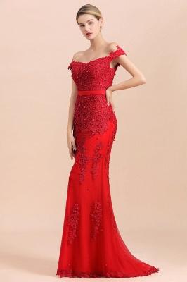 Rote Abendkleider Lang Günstig | Abiballkleider mit Spitze_7