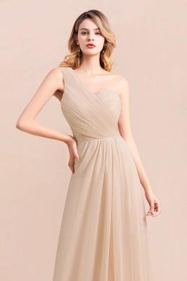 Elegante Chiffon Kleider | Champagne Brautjunfgernkleider Lang Günstig_8