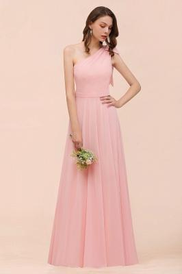 Brautjungfernkleider Lang Rosa   Chiffon Kleider Online_8