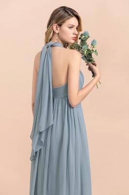 Sheer Brautjungfernkleider Lang Blau | Kleider Hochzeitsparty_12