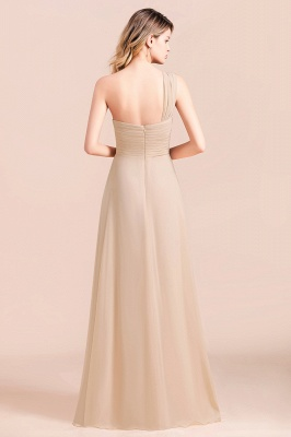 Elegante Chiffon Kleider | Champagne Brautjunfgernkleider Lang Günstig_3