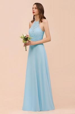 Brautjungfernkleider Lang Blau | Chiffon Kleider Abendmoden Günstig_4