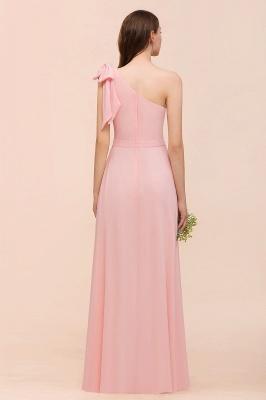 Brautjungfernkleider Lang Rosa   Chiffon Kleider Online_3