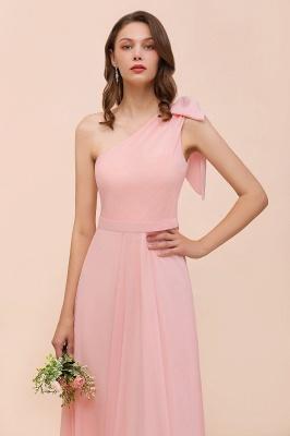 Brautjungfernkleider Lang Rosa   Chiffon Kleider Online_9