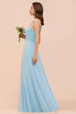 Brautjungfernkleider Lang Blau | Chiffon Kleider Abendmoden Günstig_9